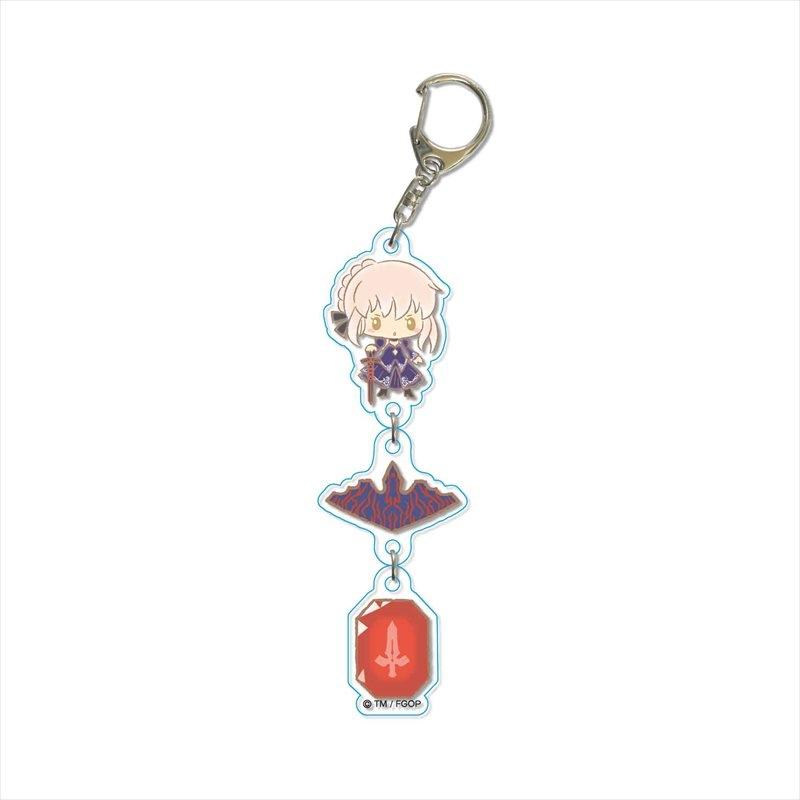 【グッズ-キーホルダー】Fate/Grand Order Design produced by Sanrio 3連キーホルダー アルトリア・ペンドラゴン(オルタ)