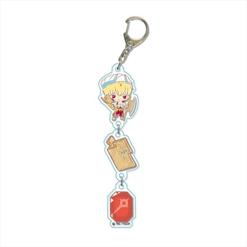 【グッズ-キーホルダー】Fate/Grand Order Design produced by Sanrio 3連キーホルダー ギルガメッシュ(キャスター)