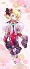 【グッズ-タペストリー】きんいろモザイク Pretty Days 描き下ろし アリス 和風ちりめん調BIGタペストリー