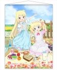 【グッズ-タペストリー】きんいろモザイク Pretty Days B2タペストリー ピクニック【アリス&カレン】