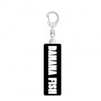 【グッズ-キーホルダー】BANANA FISH メタルキーホルダー ロゴ(ブラック&ホワイト)