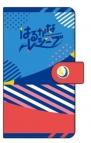 【グッズ-カバーホルダー】はるかなレシーブ 手帳型スマートフォンケース 成美・彩紗 シルエット